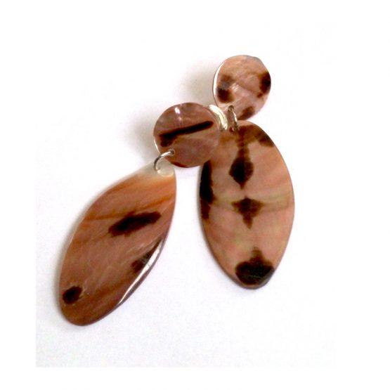 Manouk f180-3 oorbellen / clips - bijoux / parelmoer