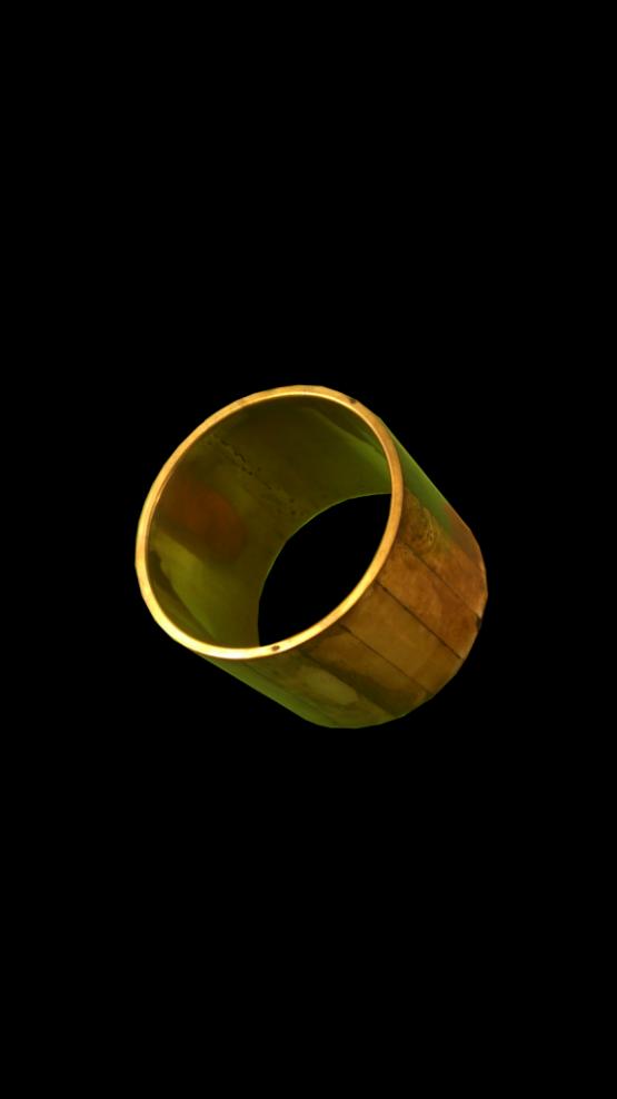 Manouk L057-1 Armband Goud-Houtmotief