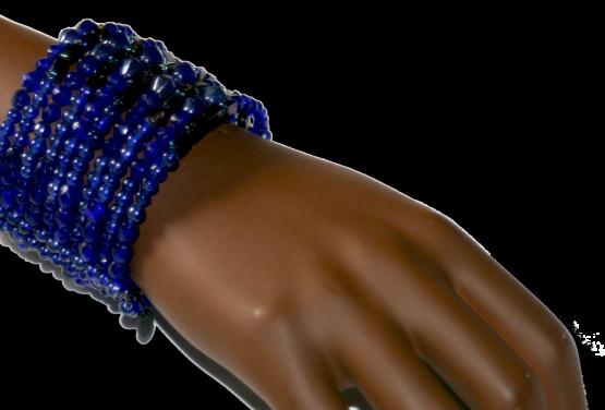 Donkerblauw Manouk
