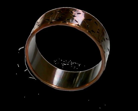 Manouk aa095-1 Rood Koperen Armband