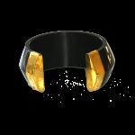 Manouk cc071-2 Goud-Zwarte Armband