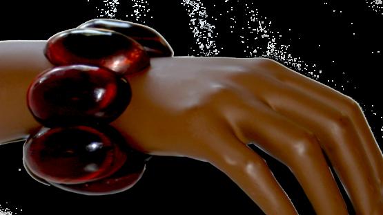 Manouk f061-1_2 Donkerrode Armband