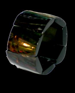 Manouk j146-3 zwart parelmoer armband