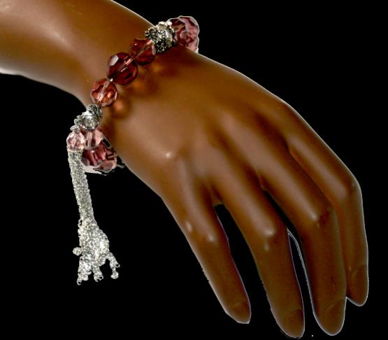 roze design armband