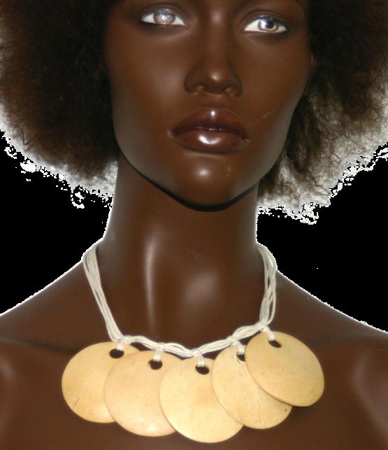 Manouk s139-2 5 disc white / bijoux / wit - beige
