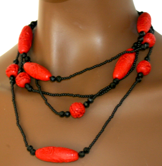Manouk t279-1 Rode Beads Ketting