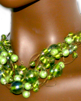 Manouk x001-46 Groen Glas Ketting