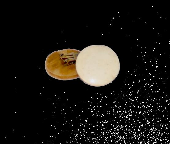Manouk 3431-1 White Circle Oorbellen