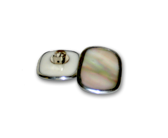 Manouk dd154-2 Mother of Pearl Square Oorbellen / Bijouterie / clip