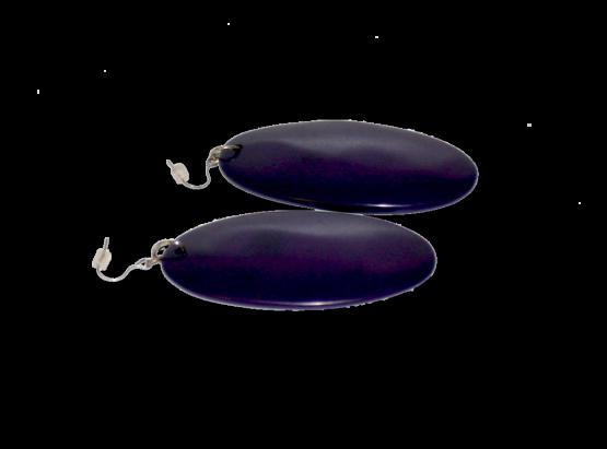 Manouk ff052-1 Purple Oval Oorbellen / Bijoux