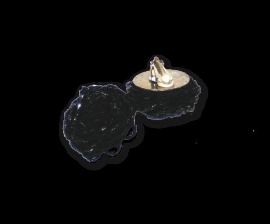 Manouk gg055-1 Black Roses Oorbellen / bijouterie / clip