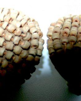 Manouk h031-1 Woodbeads Oorbellen