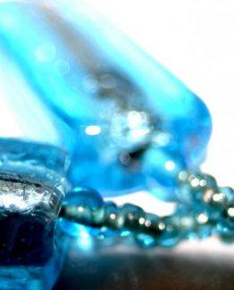 Manouk p092-2 Blue Glass Oorbellen