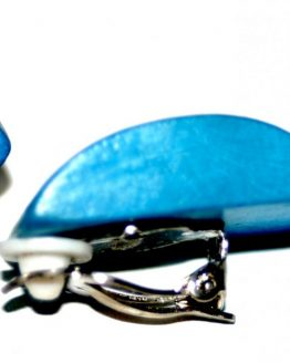 Manouk p157-4 Blue Clip Oorbellen