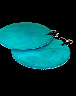 Manouk p206-5 Aqua Blauw Oorbel
