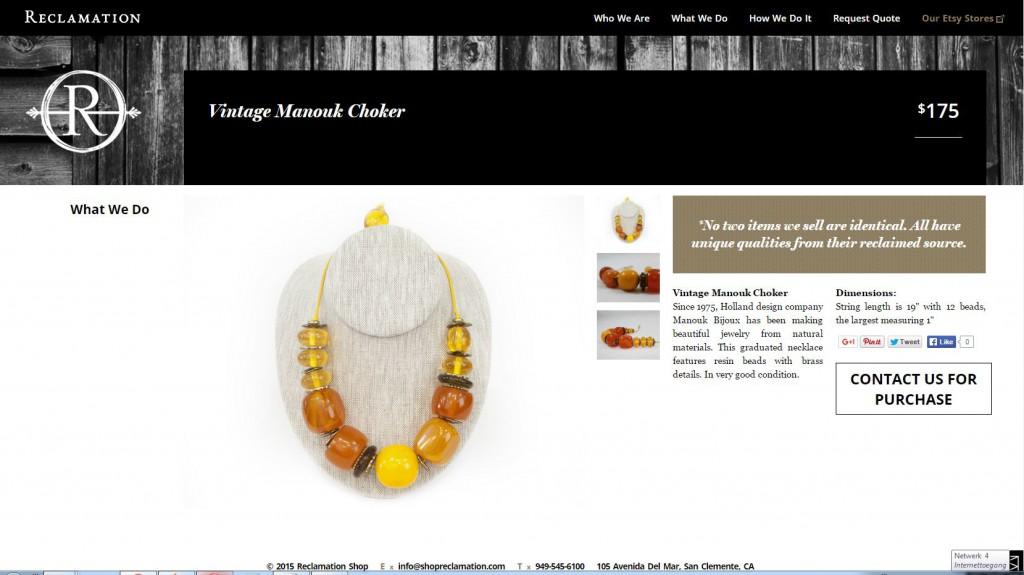 reclamation vintage bijoux Manouk