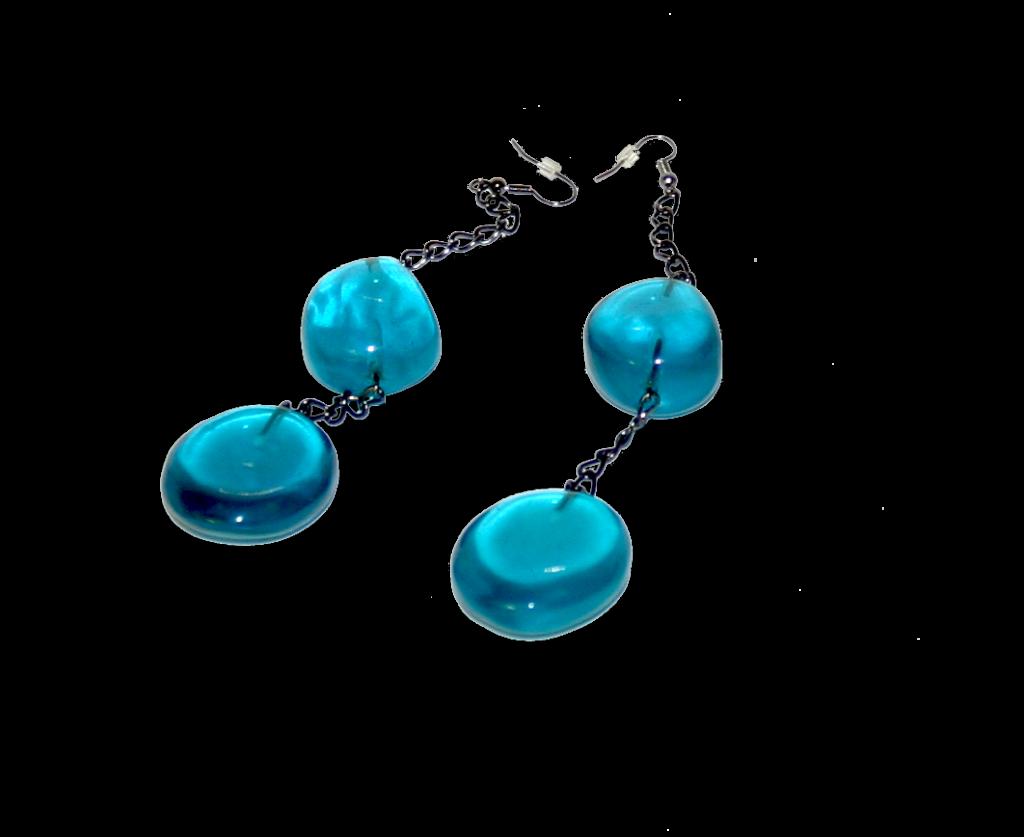 Manouk s228-3 Aqua Blue Oorbellen