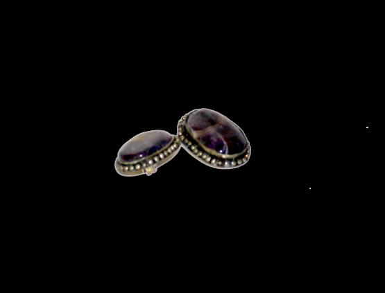 Manouk t087-4 Purple Heart Oorbellen