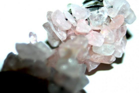 Manouk w024-1 Pink Rock Oorbellen