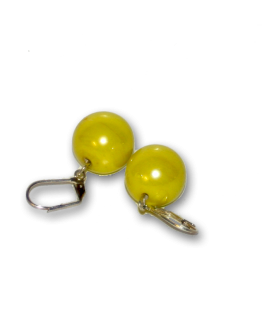 Manouk x010-10 Yellow bal Oorbellen