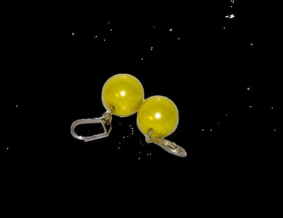 Manouk x010-10 Yellow bal Oorbellen