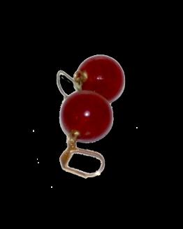 Manouk x010-33 Cherry Red Oorbellen / bijoux / rood