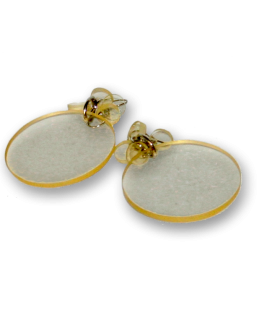Manouk z167-4 Yellow Glass Oorbellen / bijouterie / earring