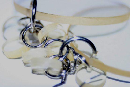 Manouk z167-4 Yellow Glass Oorbellen / bijouterie / earring
