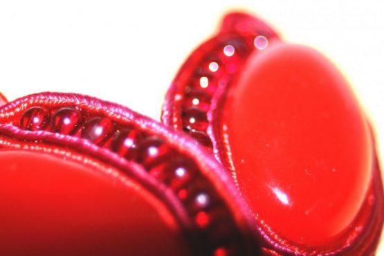 Manouk zz001-2 Red Scarab Oorbellen / bijoux / clip