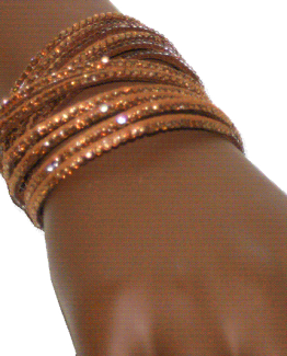 AA06 Armband Strass-leer / bijoux / casual