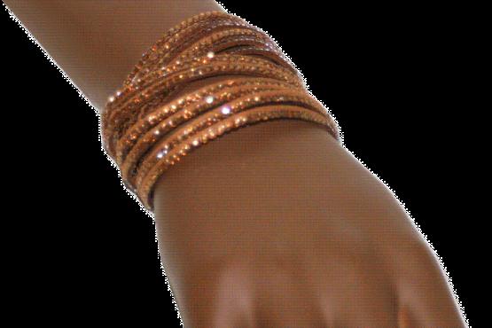 AA06 Armband Strass-leer / bijoux / casual