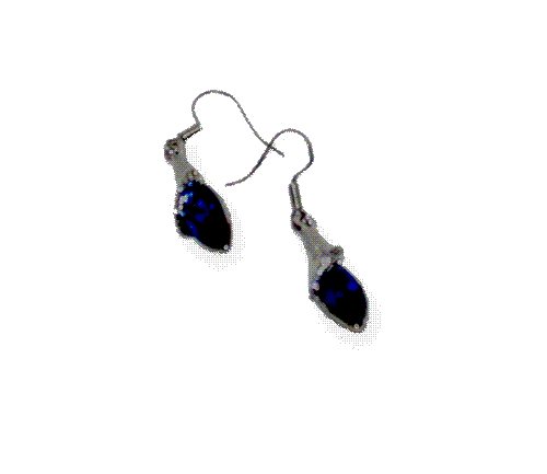 AB001-Blue-Drop-Oorbellen / fashion / bijoux