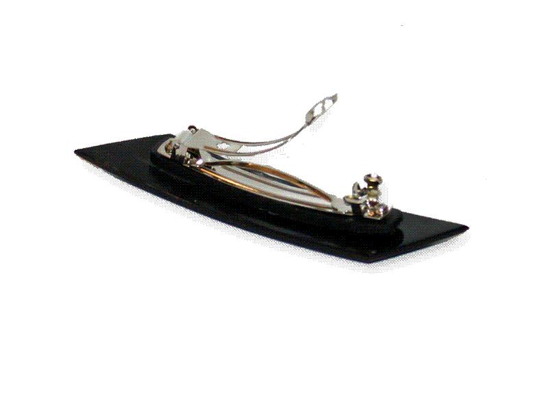 Manouk L121-1 Haarclip Zwarte Ruit / accessoires / haar