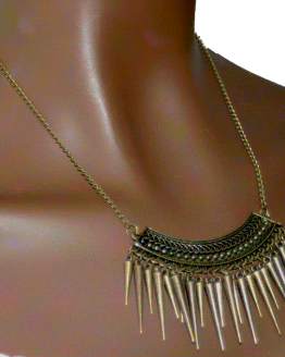 AA008 Ketting Copper Spikes / bijoux / ethnic