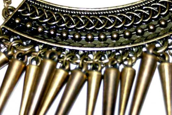 AA008 Ketting Copper Spikes / bijoux / ethnic