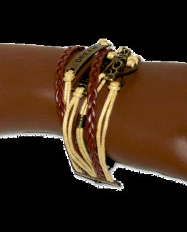 aa04 Armband Bohemian Brown / Bijoux / Casual