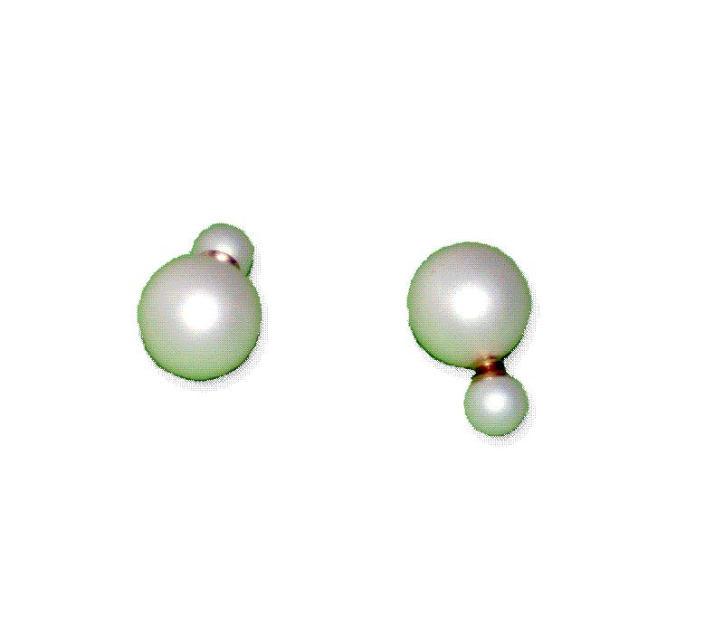 cc01 Dubbele Oorbel wit / bijoux / fashion