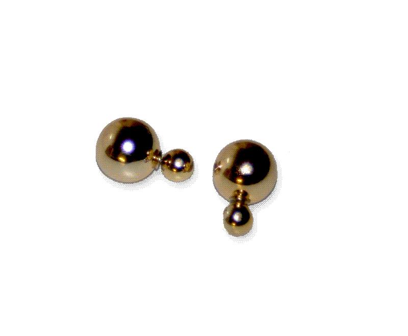 cc01 Dubbele Oorbel Goudglans / bijoux / fashion