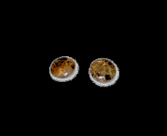Manouk e1742 Stone Circle Oorbellen / bijoux / natural