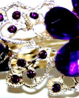 Haarclip Purple Strass / bijoux / accessoires / new