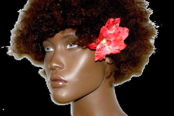 orchidee haarspeld_flower_rood / accessoires / wedding
