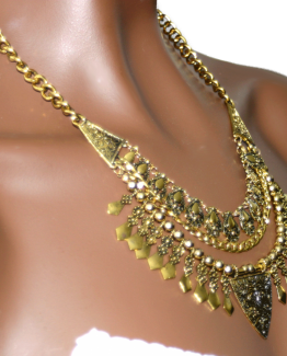 bijou / ketting / goud / ethnic / bohemian / statement