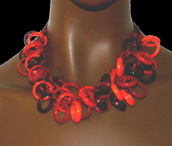 Manouk jj085-2 Glass Ring Red Ketting / bijoux / Statement / rood