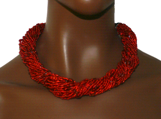 Manouk l005-1 Red String Ketting / bijoux / Statement / Rood