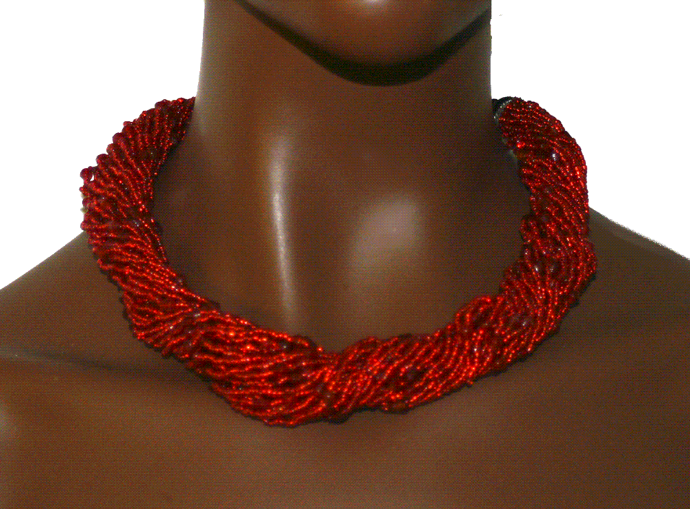 Manouk l005-1 Red String Ketting / bijoux / Statement / Rood