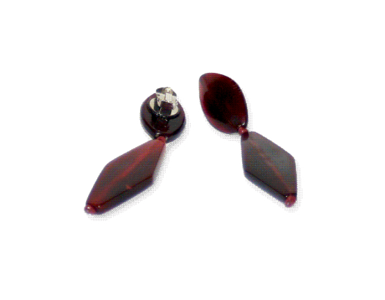 Manouk l176-1 Darkred Oorbellen / bijoux / clips
