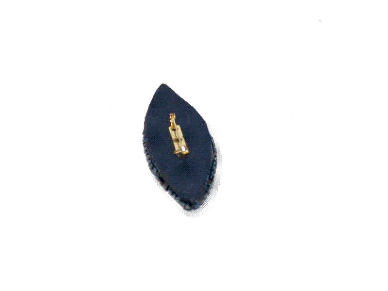 Manouk r015-2 Sierspeld Shiny Blue / bijoux / broche