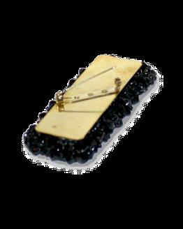 Manouk r068-1 Sierspeld Black Gloss / bijoux / broche