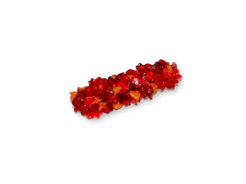 Manouk s087-1 Sierspeld Beadstrip Rood / bijoux / broche