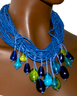 Manouk s212-2 Blue Heaven Ketting / Bijoux / Statement